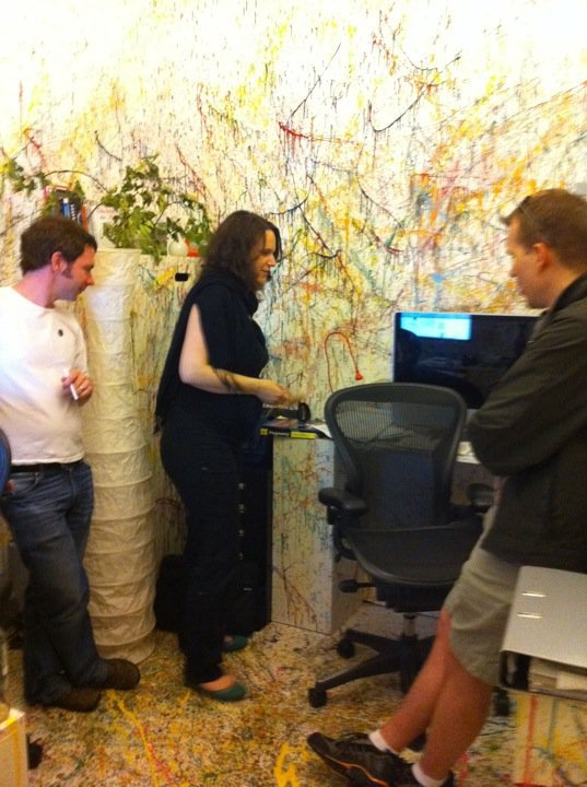 With Wiebke Burnett in the coolest office ever
